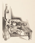 Fine Art - Work on Paper:Print, Emil Ganso (1895-1941). Table Corner, 1932. Lithograph on laid paper. 18 x 14-1/2 inches (45.7 x 36.8 cm) (sheet). Ed. 5...