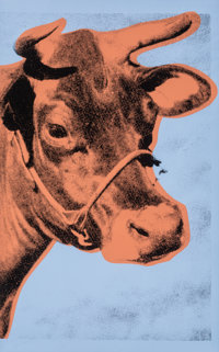 Andy Warhol (1928-1987) Cow, 1971 Screenprint on wallpaper 45-1/2 x 29-3/4 inches (115.6 x 75.6 c