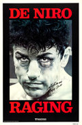 """Movie Posters:Drama, Raging Bull (United Artists, 1980). Autographed One Sheet (27"""" X41"""") Advance.. ..."""