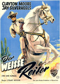 """Movie Posters:Western, The Lone Ranger (Warner Brothers, 1956). German A1 (23.5"""" X 33"""").. ..."""