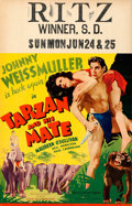 "Movie Posters:Adventure, Tarzan and His Mate (MGM, 1934). Window Card (14"" X 22"").. ..."