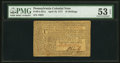 Colonial Notes:Pennsylvania, Pennsylvania April 10, 1777 16s PMG About Uncirculated 53 EPQ.. ...