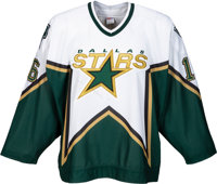 2000-01 Brett Hull Game Worn Dallas Stars Jersey with Equipment Manager Letter