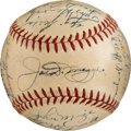 Autographs:Bats, 1951 New York Yankees Team Signed Baseball.. ...