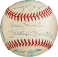 Baseball Collectibles:Balls, 1953 New York Yankees Team Signed Reunion Baseball.. ...