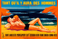 """From Here to Eternity (Columbia, 1953). Full-Bleed Horizontal French Double Grande (91.25"""" X 62.5"""") Rene Peron..."""