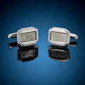 Meteorites:Irons, Muonionalusta Meteorite Octagonal Cufflinks. Iron, IVA. Northern Sweden - (67° 48'N, 23° 6'E). Found: 1906. ... (Total: 2 Items)