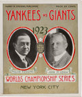 Baseball Collectibles:Programs, 1923 World Series Game Six Program (New York Giants) - Yankees Clinch Their First World Series Title. ...