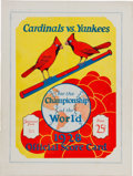 Baseball Collectibles:Programs, 1928 World Series Program (St. Louis Cardinals) - Scored from Babe Ruth's Three Home Run Game. ...