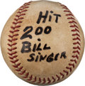Baseball Collectibles:Balls, 1967 Roberto Clemente Hit #200 Baseball with Family Letter. ...