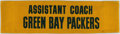 Football Collectibles:Others, Green Bay Packers Assistant Coach Seat Back.. ...