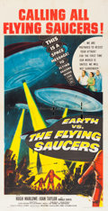 Movie Posters:Science Fiction, Earth vs. the Flying Saucers (Columbia, 1956). Thr...