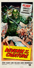 "Movie Posters:Horror, Revenge of the Creature (Universal International, 1955). Three Sheet (41"" X 80).. ..."