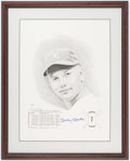 Autographs:Others, Mickey Mantle Signed Rookie Series Limited Edition Print.. ...