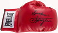 """Boxing Collectibles:Autographs, """"Smokin'"""" Joe Frazier Signed Glove. . ..."""