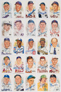 Autographs:Post Cards, 1981-89 Perez-Steele Signed Hall of Fame Postcards Lot of 23 PlusTwo Unsigned Cards.... (Total: 25 items)