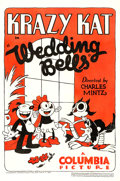 "Movie Posters:Animation, Krazy Kat in Wedding Bells (Columbia, 1933). One Sheet (27"" X 41"").. ..."
