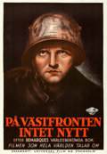 "Movie Posters:Academy Award Winners, All Quiet on the Western Front (Universal, 1930). Swedish One Sheet(27"" X 39.5"").. ..."