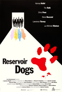 "Reservoir Dogs (Live Entertainment, 1992). Cannes One Sheet (26.75"" X 39.75"") Marc Zaref Design"