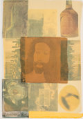 Fine Art - Work on Paper:Print, Robert Rauschenberg (1925-2008). Arcanum VI, 1981.Screenprint in colors with collage on paper. 22-3/4 x 15-1/2 inches(...