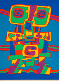 Jacques Soisson (1928-2012) Omabra and Songe Galere (three works), 1974-75 Screenprints in colors on