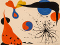 Fine Art - Work on Paper:Print, Alexander Calder (1898-1976). Flies in the Spider Web, 1975.Lithograph in colors on wove paper. 20 x 26-1/2 inches (50....