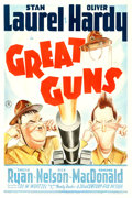 "Movie Posters:Comedy, Great Guns (20th Century Fox, 1941). One Sheet (27"" X 41"").. ..."