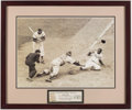 Baseball Collectibles:Photos, Jackie Robinson Steals Home Framed Oversized Photograph.. ...