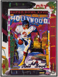 Football Collectibles:Others, 1993 Super Bowl XXVII Peter Max Framed Poster.. ...