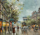 Antoine Blanchard (French, 1910-1988) Boulevard de la Madeleine, Paris Oil on canvas 18 x 21-1/2 inches (45.7 x 54.6...