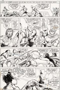 Original Comic Art:Panel Pages, Barry Smith and Tom Sutton Avengers #99 Story Page 18Original Art (Marvel, 1972)....