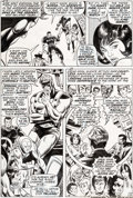 Original Comic Art:Panel Pages, Frank Giacoia and Sam Grainger Avengers #73 Story Page 15Black Panther Original Art (Marvel, 1970)....