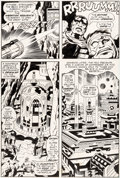 Original Comic Art:Panel Pages, Jack Kirby and Mike Royer Black Panther #6 Story Page 6Original Art (Marvel, 1977)....