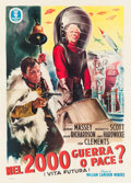 "Movie Posters:Science Fiction, Things to Come (Minerva, R-1953). Italian 4 - Fogli (55"" X 77"").. ..."