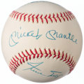 Autographs:Baseballs, Mickey, Willie, & The Duke Multi-Signed Baseball.. ...