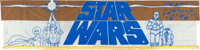 "Star Wars (20th Century Fox, 1976). Silk Screen Banner (104"" X 25"") with NSS Invoice (7"" X 8.5"")..."