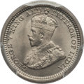 Hong Kong , Hong Kong : Quartet of Certified George V silver Minors 1935,... (Total: 4 coins)