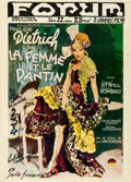 Movie Posters:Romance, The Devil is a Woman (Paramount, 1935). Folded, Fine/Very ...