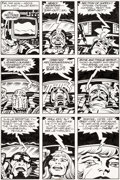 Original Comic Art:Panel Pages, Jack Kirby and Mike Thibodeaux Captain Victory and the GalacticRangers #8 Story Page 21 Original Art (Pacific, 19...