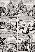 Original Comic Art:Panel Pages, Jack Kirby and Mike Thibodeaux Captain Victory and the GalacticRangers #8 Story Page 3 Original Art (Pacific, 198...
