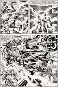 Original Comic Art:Panel Pages, Jack Kirby and Mike Thibodeaux Captain Victory and the GalacticRangers #8 Story Page 18 Original Art (Pacific, 19...