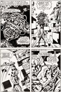 Original Comic Art:Panel Pages, Jack Kirby and Mike Thibodeaux Captain Victory and the GalacticRangers #8 Story Page 13 Original Art (Pacific, 19...