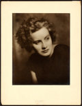 "Movie Posters:Drama, Greta Garbo by Arnold Genthe (c. 1925). Portrait Photo (12.5"" X 10"").. ..."