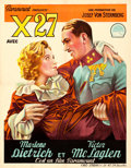 """Movie Posters:Drama, Dishonored (Paramount, 1931). Trimmed Pre-War Belgian (24.5"""" X31.5"""").. ..."""