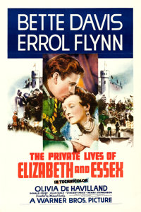 "The Private Lives of Elizabeth and Essex (Warner Brothers, 1939). One Sheet (27"" X 41"")"