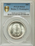 Commemorative Silver, 1947 50C Booker T. Washington MS64 PCGS Secure. PCGS Population: (493/1095). NGC Census: (229/626). CDN: $50 Whsle. Bid for...
