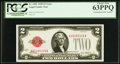 Error Notes:Miscellaneous Errors, Missing Back Plate Number. Fr. 1501 $2 1928 Legal Tender Note. PCGS Choice New 63PPQ.. ...