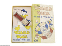 "Daisy Duck Wrist Watch with ""Pink Lettering"" Box (US Time Corporation, 1949). Very scarce Daisy Duck wrist wat..."