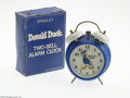 Memorabilia:Miscellaneous, Donald Duck Alarm Clock with Box (Elgin-Bradley, 1970s). Although manufactured somewhat more recently than many other watche...