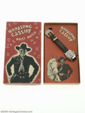 Memorabilia:Miscellaneous, Hopalong Cassidy Wrist Watch in Box (US Time Corporation, 1950). During the 1940s and 1950s most little boys played cowboys ...